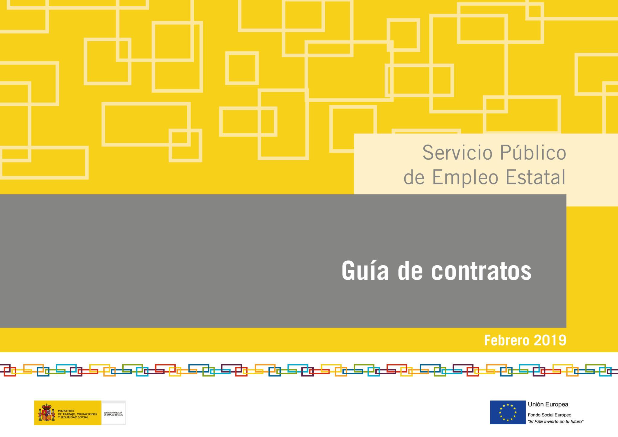 Guía contratos SEPE Febrero 2019