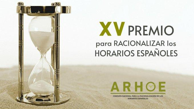 Premios ARHOE Racionalización de horarios